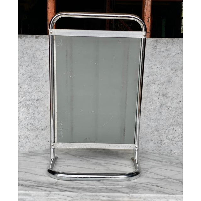 A Chrome Doctor's Medical Free Standing Mirror, c.1970. This Mirror would look exceptional while on display in a Mid-...