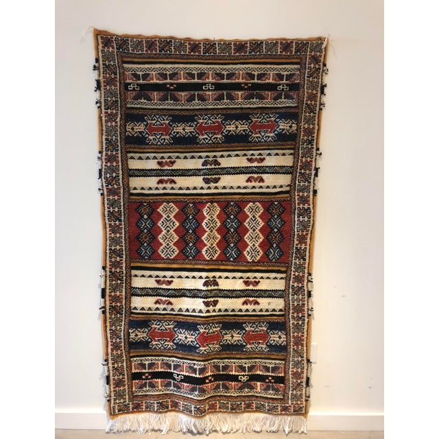 Boho Chic Vintage Moroccan Rug For Sale - Image 3 of 8