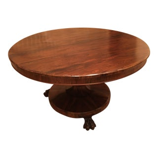 1830s Regency Period Rosewood Tilt Table For Sale