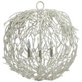 Image of Coral or Twig Globe Pendant Chandelier For Sale