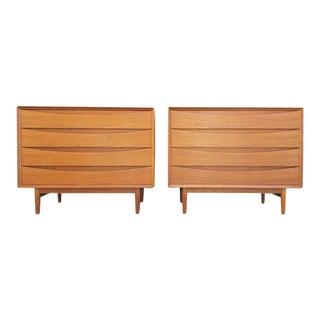 Pair of Teak Danish Modern Dressers by Arne Vodder for Sibast For Sale