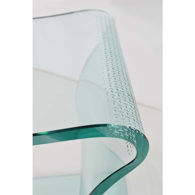 Glass L. Fife Signed Glass Side Table For Sale - Image 7 of 12