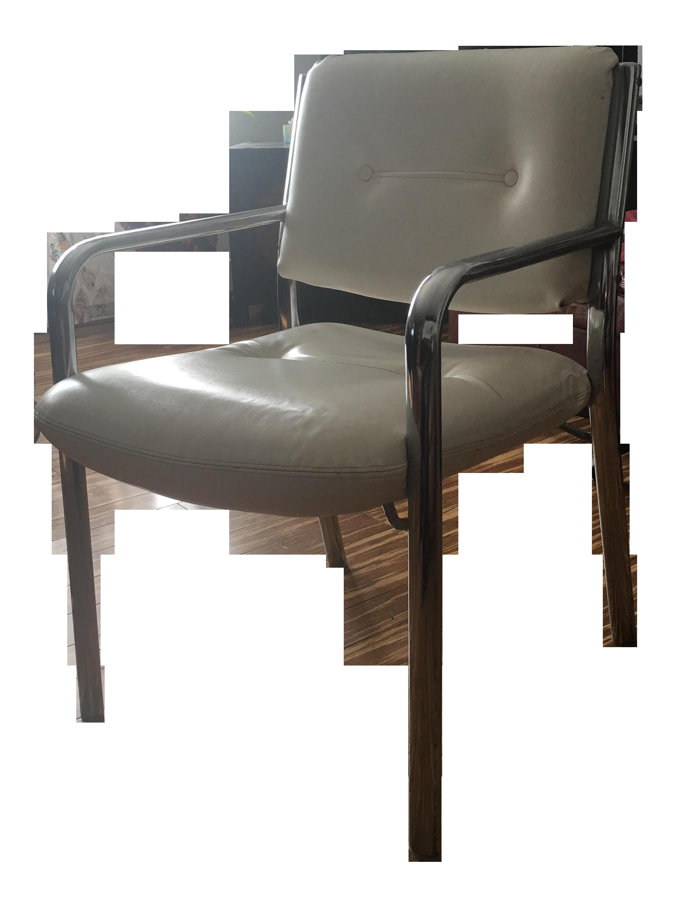 1970s Modern Milo Baughman Chrome Tubular Chair For Sale