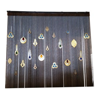 Wall Curtain With Colored Glass For Sale