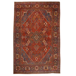 Antique Oversize Persian Joshegan Carpet For Sale
