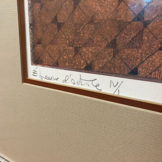 Original Sunol Alvar Embossed Artist Proof Signed Lithograph Framed With Museum Glass For Sale - Image 4 of 12
