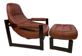 Image of Leather Chair and Ottoman Sets