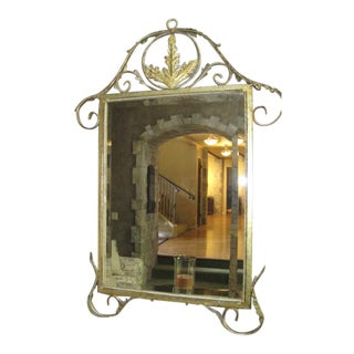 French Gold Handcrafted Mirror For Sale
