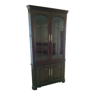 Sale Ending Soon!! Solid Cherry Thomasville Collector's Corner China Cabinet