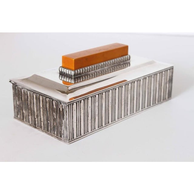 "1920s Art Deco Barbour Silver Co ""Special Line"" Modernist Box by Albert Feinauer 1929 For Sale - Image 5 of 11"