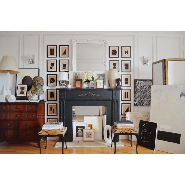 Abstract Josh Young Design House Noir Géométrique Collection Paintings, 12 Pieces For Sale - Image 3 of 6