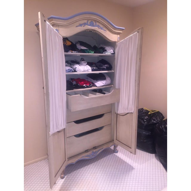 Antique Armoire With Matching End Tables - Image 4 of 6