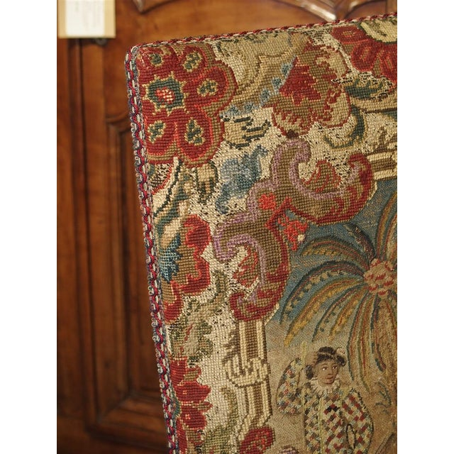 17th Century French Walnut and Saint-Cyr Tapestry Armchairs - a Pair For Sale - Image 9 of 13