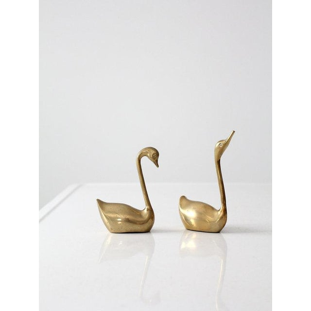 Mid-Century Brass Swans - A Pair - Image 5 of 6