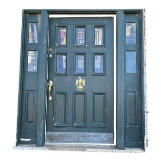 1930s Spanish Colonial Style Front Door With Sidelights For Sale