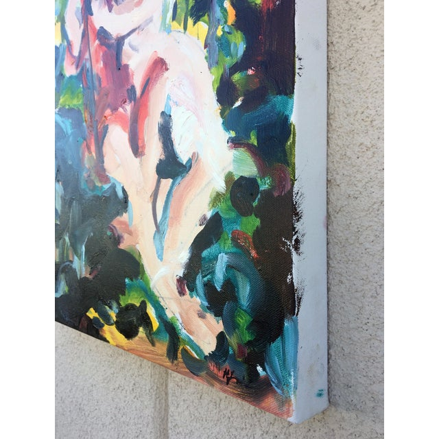 Expressionism Romance on the Swing II For Sale - Image 3 of 4