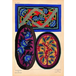 1929 Designer Sheet of French Pochoir by Seguy For Sale