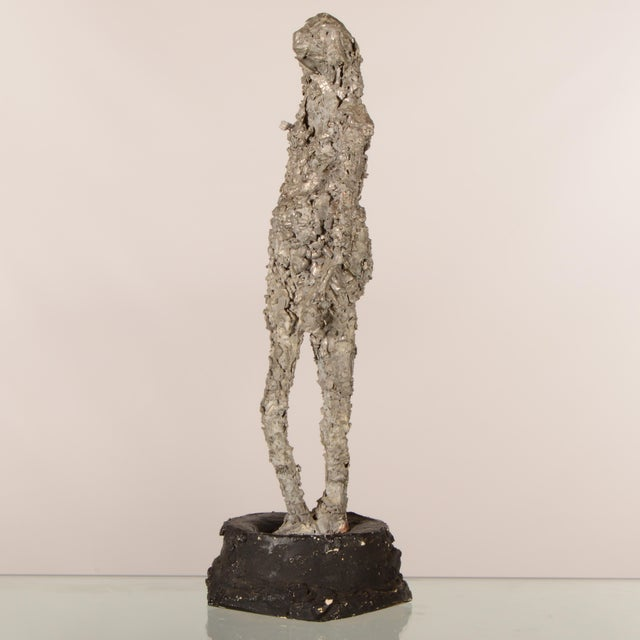 """Mid 20th Century """"Silver Lady"""" Figurative Sculpture Statue For Sale - Image 5 of 12"""