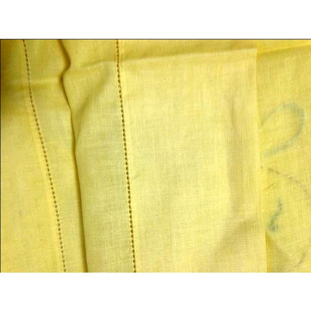 Never-Used Yellow Embroidered Pillowcases - A Pair - Image 5 of 5