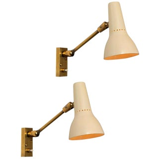 1950s Giuseppe Ostuni Wall Lamps for O-Luce - a Pair For Sale