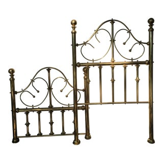 Vintage Brass Twin Bed For Sale