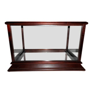 Table Top Display Case for Your Treasure - Wood & Glass & Mirror