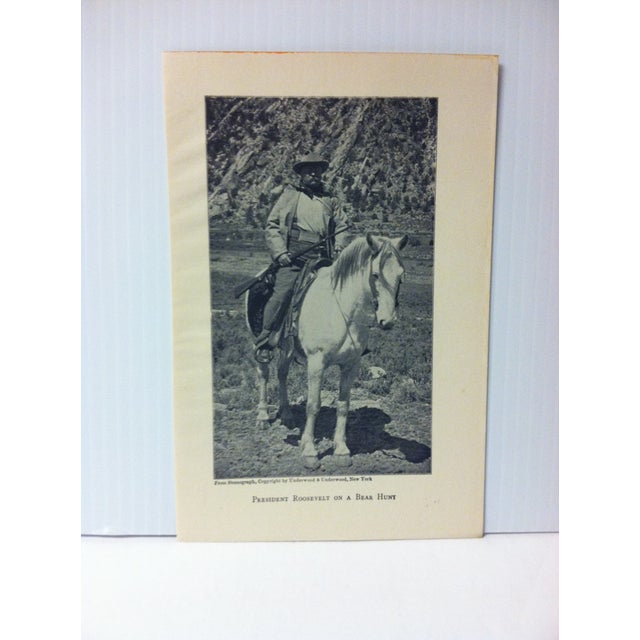 """This is an Antique Print on Paper showing an Event from the Life of Theodore Roosevelt that is titled """"President Roosevelt..."""