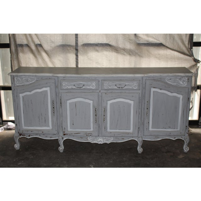 Oak 19th Century French Gray Sideboard For Sale - Image 7 of 7