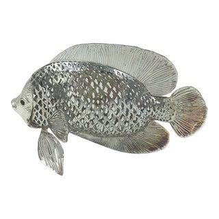 "Christofle ""Lumiere D'Argent"" Collection Poisson Combattant Silver Pierced Filigree Fish For Sale"