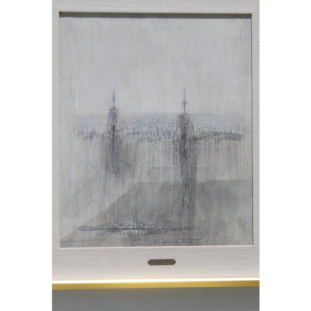 Italian Modernist Painting by Cesare Peverelli For Sale - Image 4 of 9