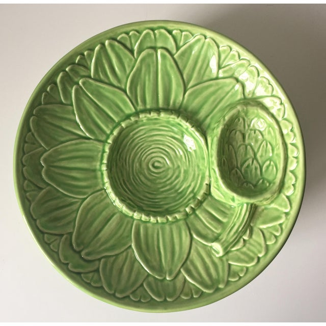 Vintage Olfaire Faience Artichoke Dishes - Set of 4 - Image 5 of 8