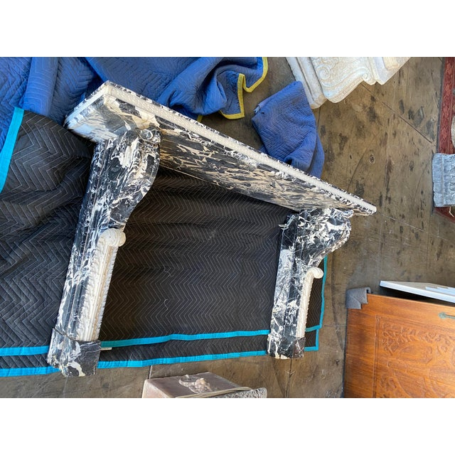 19th Century Black Marble Entryway Shelf/Fireplace Surround For Sale - Image 13 of 13