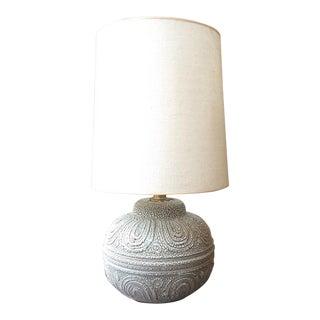Mid-Century Textured Ceramic Lamp For Sale