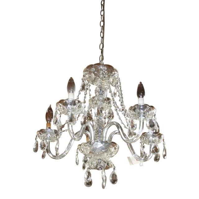 Vintage Glass Estate Chandelier - Image 1 of 5