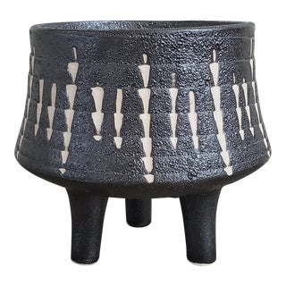 Mid Century Modern Footed Tribal Planter For Sale