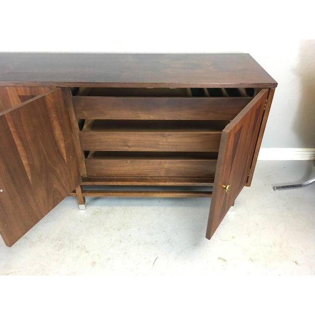 Mid-Century Walnut With Rosewood Inlay Credenza - Image 6 of 8