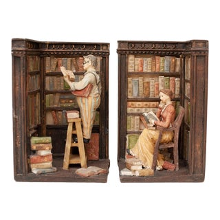 Mid 20th Century Vintage American Classical Library Bookends - a Pair For Sale