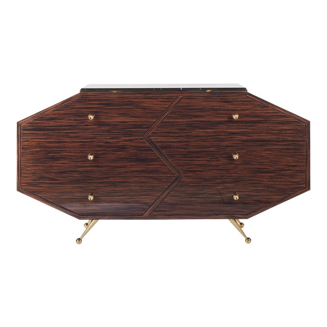 Gold Customizable BB10 SIDEBOARD For Sale - Image 8 of 8