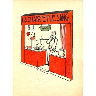French, Paris Storefront, Flesh and Blood, La Chair Et La Sang, 1925, Matted For Sale