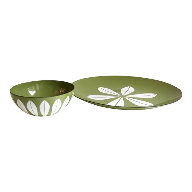Cathrineholm Lotus Enamel Bowl & Charger Set - A Pair - Image 1 of 5