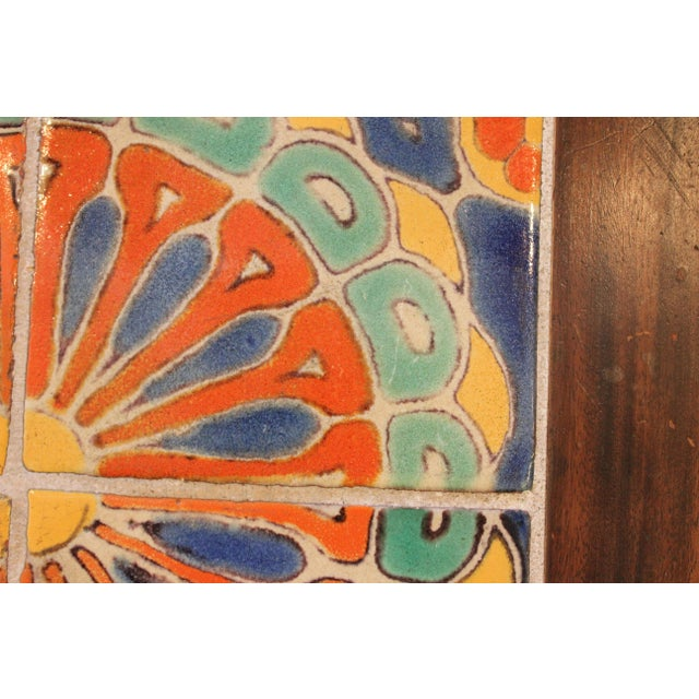 Wood Vintage California Pottery Tile Side Table For Sale - Image 7 of 11