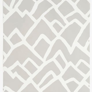 Sample - Schumacher Zimba Wallpaper in Fog Preview