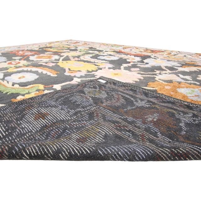 Geometric Modern and Contemporary High-Low Area Rug - 10′9″ × 13′8″ For Sale - Image 4 of 7