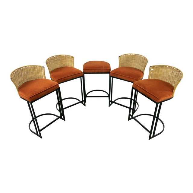 Milo Baughman for Shaver-Howard Cantilever Bar Stool - Set of 5 - Image 1 of 11