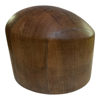 Vintage Diamond Wooden Hat Mold For Sale