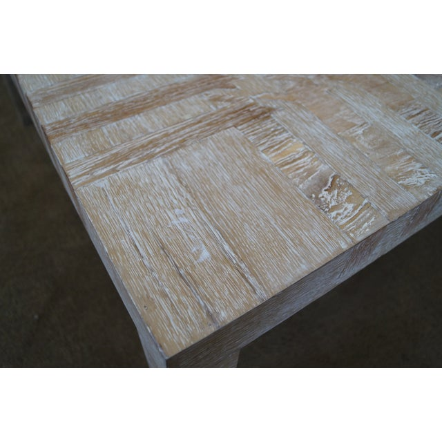 Jonathan Charles Houndstooth Parsons Coffee Table - Image 6 of 10