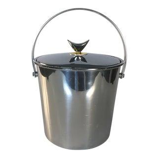 1960s Chrome Handled Ice Bucket