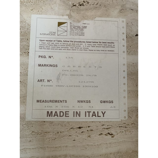 Postmodern Italian Travertine Coffee Table For Sale - Image 9 of 13