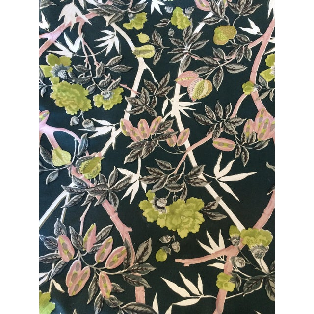 Vintage Botanical Print Fabric - 1 Yard For Sale