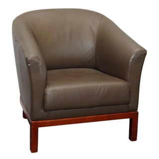 Tan Leather Arm Chair For Sale